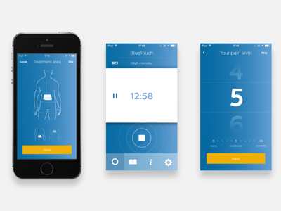 Philips Treatment App Design health ios bluetouch blue treatment philips