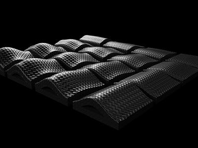 Parametric Surface Modelling Form Study carbonfiber carbon black grasshopper form study surface parametric