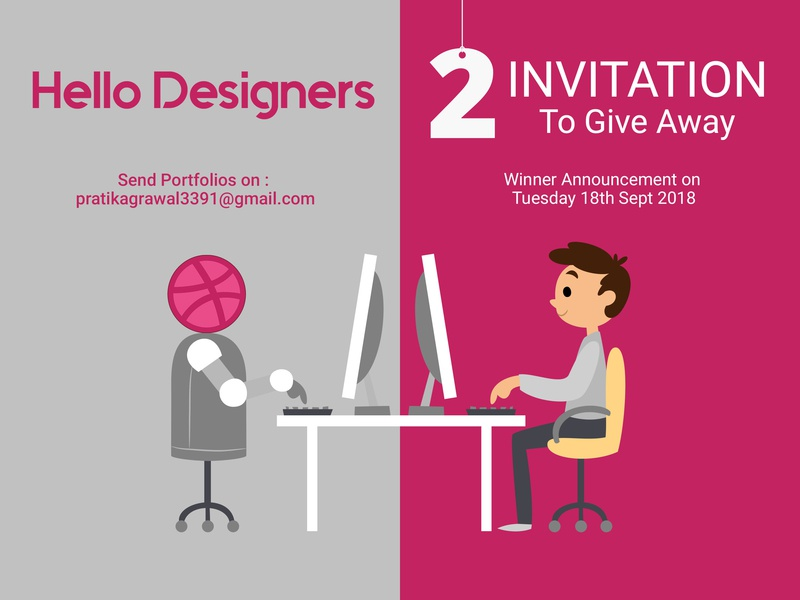 Dribbble Invitation To Give Away dribbble designer invitation dribbble compitition dribbble winner send portfolio dribbble invitee invitation card invitation mockup invitation design designer invitation dribbble invitation invitation