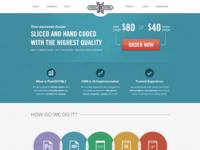 Pixel2html.net  homepage landing page web web design