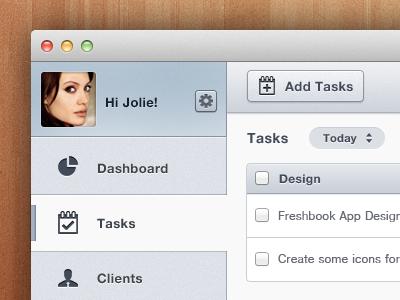 Invoice App sidebar 2.0 sleek gui dashboard user interface task manager invoice clean ui slick mac ios os x app app design side nav side nav tanveer