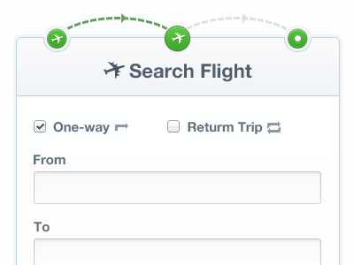 Search Flight fields trip search plane flight form text box search flight ui process steps clean airport tanveer