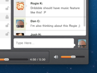 Player App with Chat window