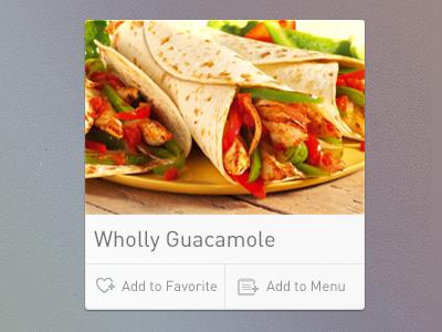 Recipe widget