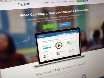 Sibme homepage mockup home web homepage landing page landing page sibme clean web design feature website web site