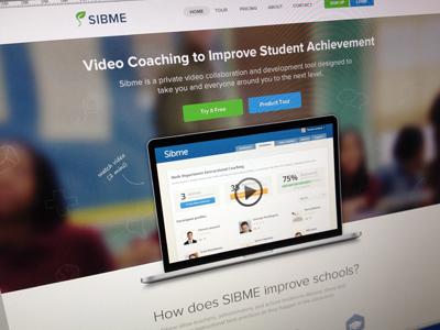Sibme homepage mockup home web homepage landing page landing page sibme clean web design feature website web site