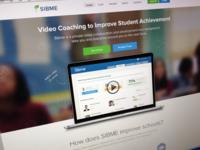 Sibme homepage mockup
