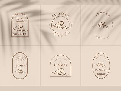 Summer Boho Logo logo template motion graphics vector logo illustration graphic design design card design branding badge logo summer logo summer boho logo design