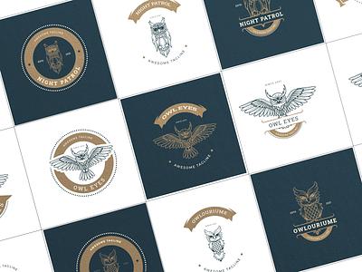 Owl Badge Logo vector logo logo design logo collections animation motion graphics illustration graphic design design card design branding badge logo owl badge] owl illustration owl vector owl owl logo