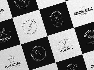 Kitchen Logo room badge logo graphic design kitchen logo