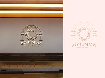 Bohemian Vibes Logo lunar