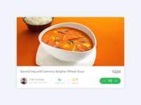 Card Design for Eatfresh Website