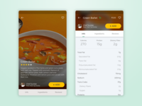 Product Screen for Food Delivery
