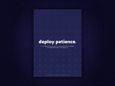 Creative Glimmer love imagine patience deploy values typography print freelance poster office creative 2017
