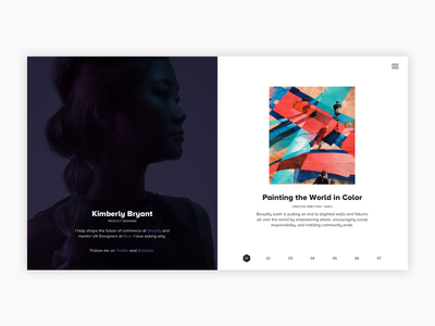 Portfolio - Designer Profile design web webdesign website portfolio layout clean interface minimal ux ui