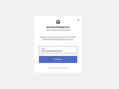 Newsletter principle app newsletter design popup newsletter motion minimal animation design ux ui