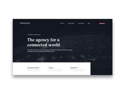 Agency Landing Page homepage agency interaction principle app branding webdesign interface motion minimal animation design ux ui