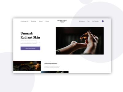 Aromatherapy - Design Exploration branding skin care minimal layout design aromatherapy essential oil typography web design interface design ux ui