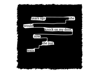 """Blackout Poem """"Cellphones"""""""