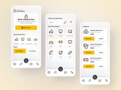 Medical Test Booking App. test booking online booking appoitment doctor app medical adobe xd figma android mobile mobile app web app logo iphone design app icon ios ux branding ui