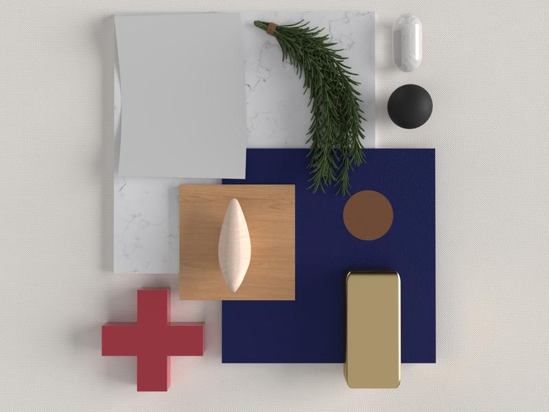 [Blues] Mood board textures brand care medical app medicine medical architecture light mood boards mood board moodboard 3d texture vector branding illustration inspire