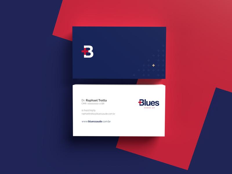 [Blues] Business Card blue logo illustration vector design inspire visual brand identity brand branding 3d business card design business card businesscard