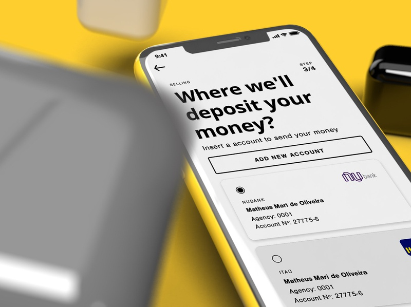 [Close] Deposit screen crypto exchange crypto currency cryptocurrency crypto wallet crypto mockup mobile inspire card ux app ui design