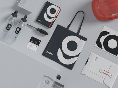 Guidion minimal icon typography vector logo inspire card identity branding design branding brand design