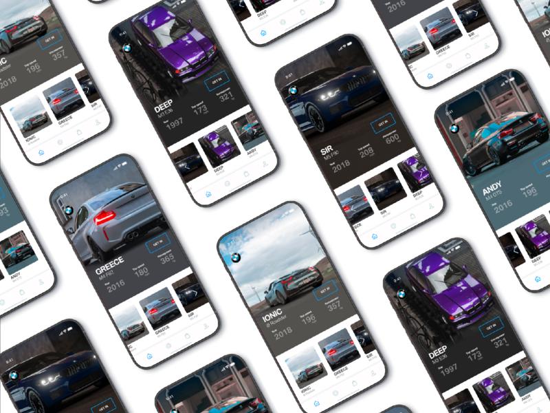 screeens car app eletric car i8 m3 m4 bmw iphone x iphone x app iphone mobile inspire home app ux site design ui card car