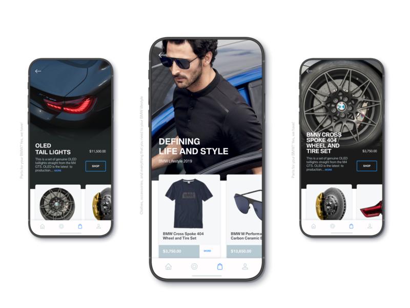 BMW Shop bmw blue color site ux mobile inspire app design car card ui ecommerce ecommerce app shop