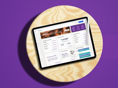 Avec Marketing Module ipad logo home site mobile inspire app ux ui card design