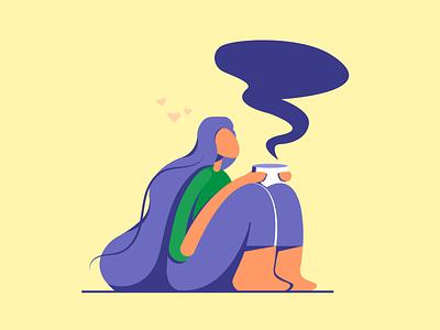 Teagirl typography design vector illustration graphic design
