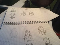 Circle Characters Sketch 01