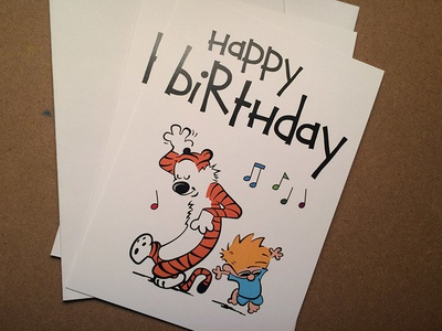 Calvin Hobbes Birthday Card by Tim Basarath Dribbble – Calvin and Hobbes Birthday Cards