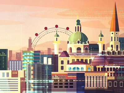 Vienna adobe illustration austria vienna city