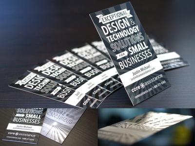 Core Assistance Business Cards branding business cards spot uv
