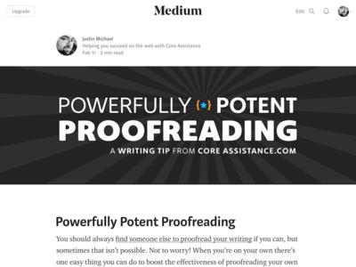 Header for Medium Post proofreading writing header medium web