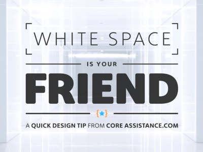 White Space is Your Friend social design web whitespace typography header