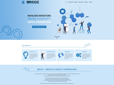 Website design BR!CCC website webdesign design bootstrap 5
