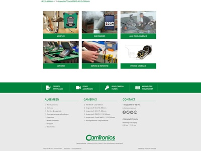 New Camtronics website footer website ui webdesign bootstrap 5 design