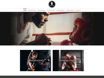 Webdesign of Fightlife webshop (E-commerce) website ecommerce ui webdesign bootstrap 5 design