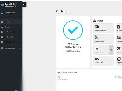 Downdijk CMS v8.0 sidebar ui cms bootstrap 5 design