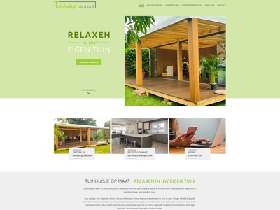 Tuinhuisjeopmaat.be website design website webdesign bootstrap 5 design