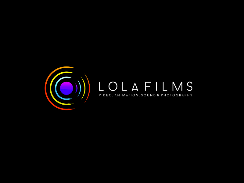 LOLA FILMS sound animation filmmaker film director video production videos video film production film logo mark logo design mark branding logo brand mexico design
