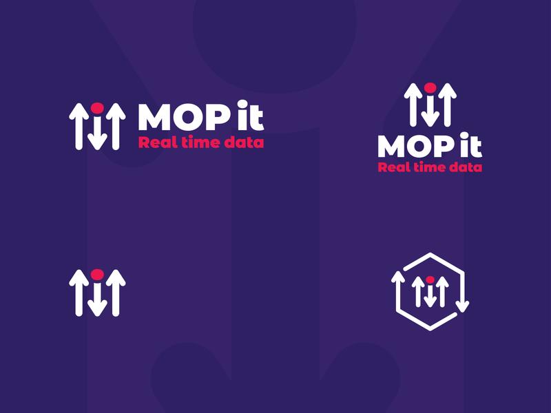 MOP it data visualization arrows arrow download upload database data cloud server cloud monogram logo design typography mark branding logo brand mexico design