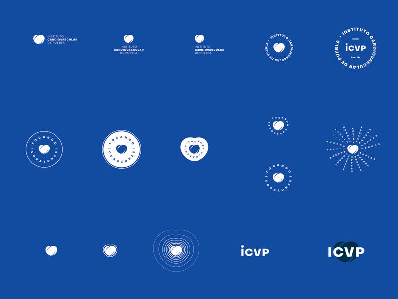 ICVP 💙 logo design cardiology cardio heart health care healthcare healthy health logo mark typography mark branding logo brand mexico design