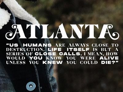 Atlanta 🖤 typo poster childish gambino posters typography type poster design poster juneteenth donald glover atlanta