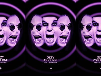 Ozzy Osbourne: Prince of Darkness rock band band artwork posters rock and roll rock illustration procreate heavy metal poster design poster black sabbath metal ozzy osbourne ozzy