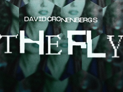 David Cronenberg's The Fly logo design fiction scify scifi david cronenberg cronenberg body horror the fly typography type logo poster design movie poster movie