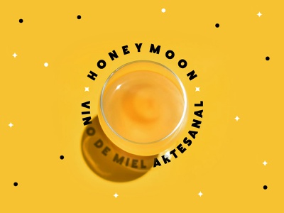 Honey Moon 🍯🌙🔮 witchy beverage spooky witches witch wine coven typography mark branding logo brand mexico design